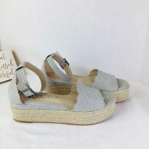 CCOCCI Grey Platform Sandals. Size 8